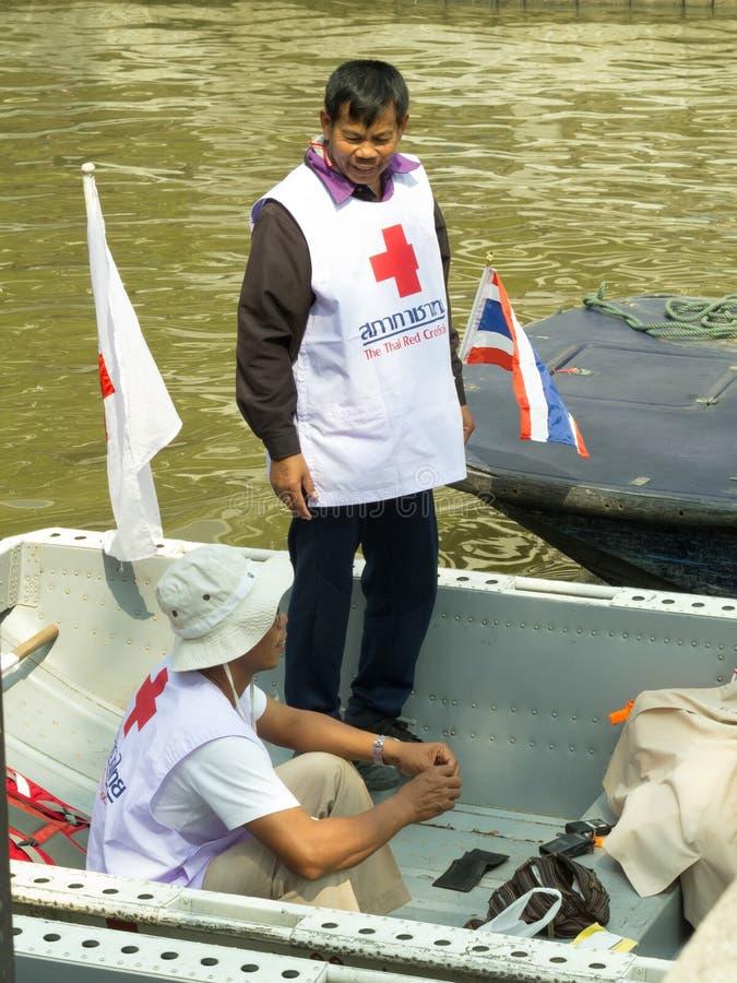 红十字会志愿者 库存照片