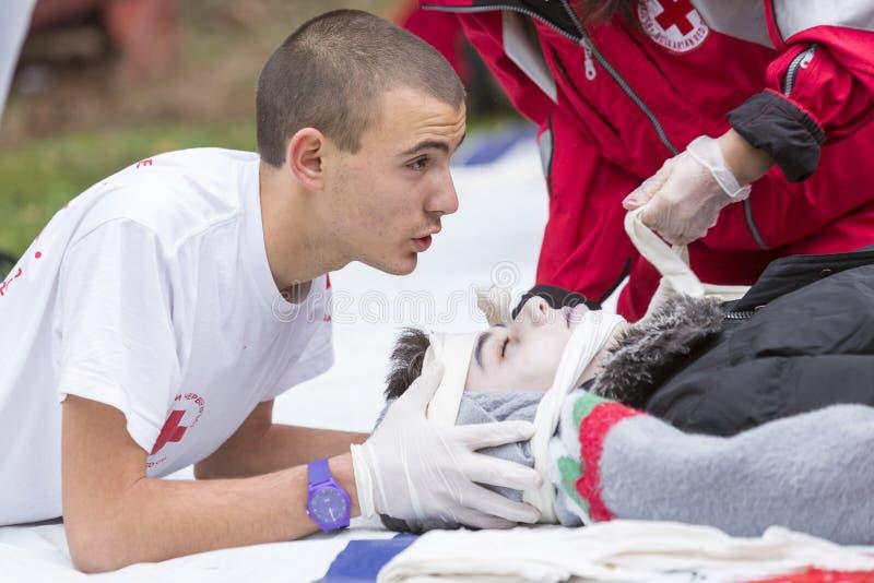 红十字会青年时期 库存照片
