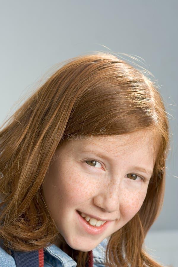 红发女孩的纵向 免版税图库摄影