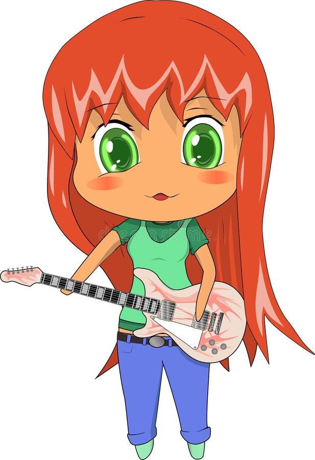 红发女孩 免版税库存图片