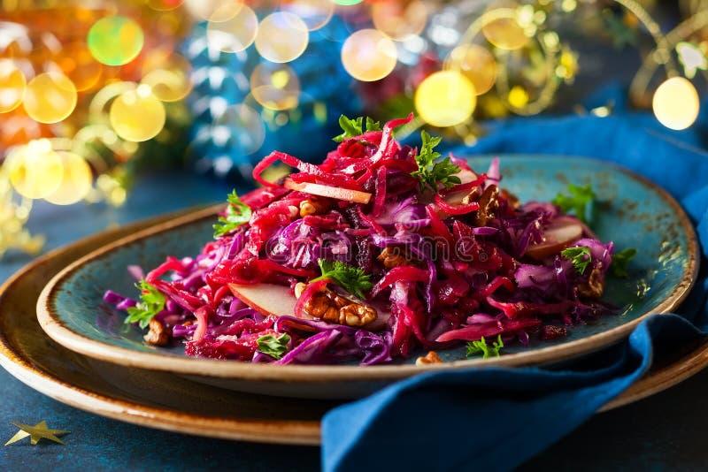 红叶卷心菜沙拉 库存图片