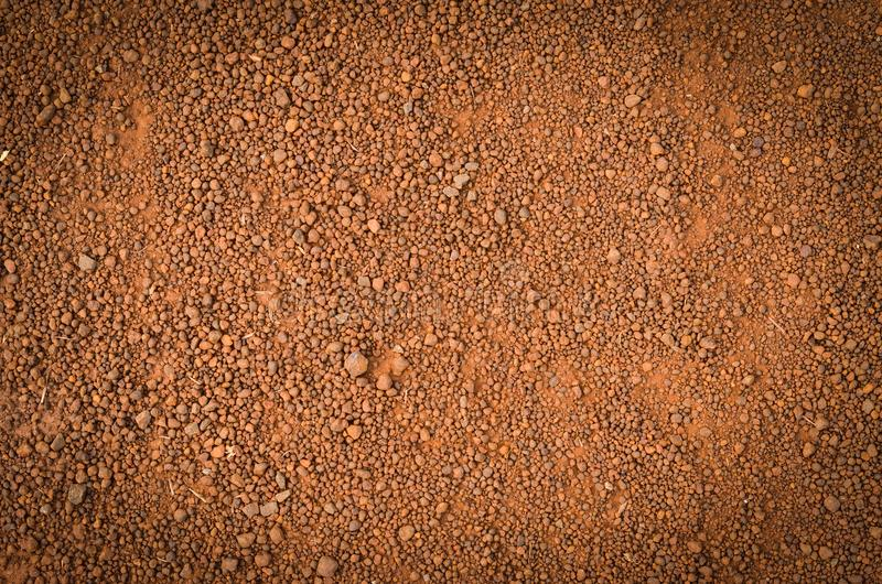 红土的土壤纹理,顶视图 免版税库存图片