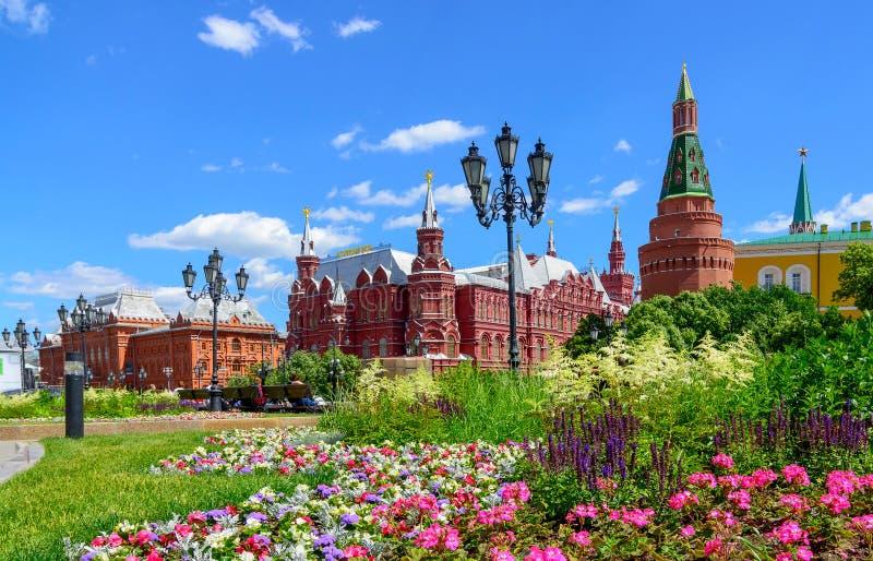 红场和俄罗斯,莫斯科,俄罗斯的状态历史博物馆 免版税库存图片