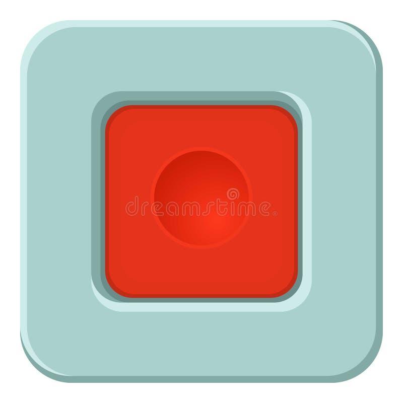 红场按钮象,动画片样式 皇族释放例证