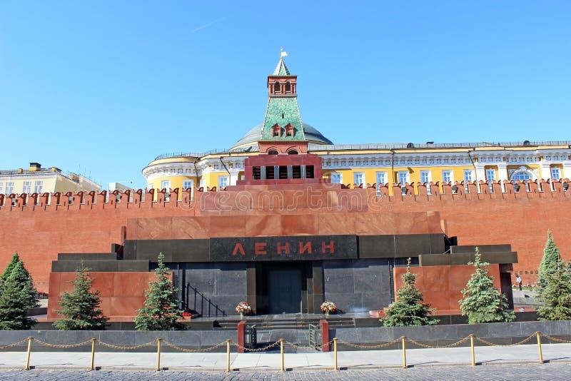 红场的列宁陵墓在莫斯科 免版税库存图片