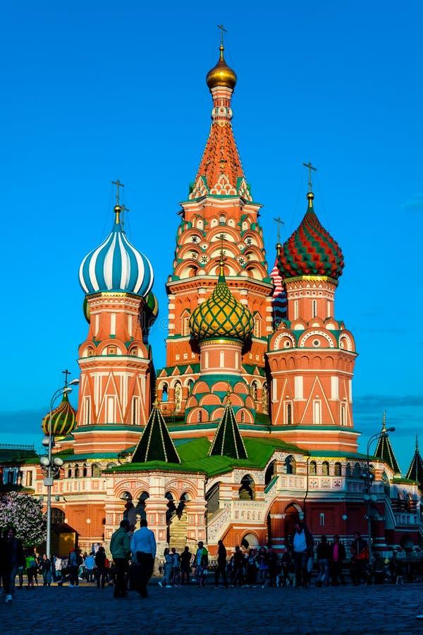 红场的柏拉仁诺教堂在莫斯科 免版税库存图片