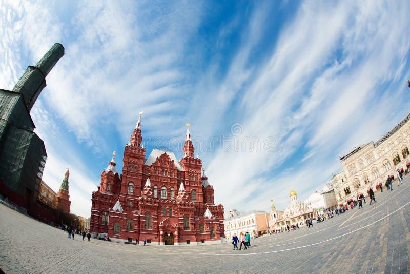 红场的状态历史博物馆在莫斯科,俄罗斯 库存图片