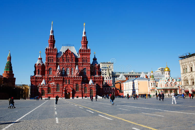 红场的状态历史博物馆 莫斯科俄国 免版税库存图片