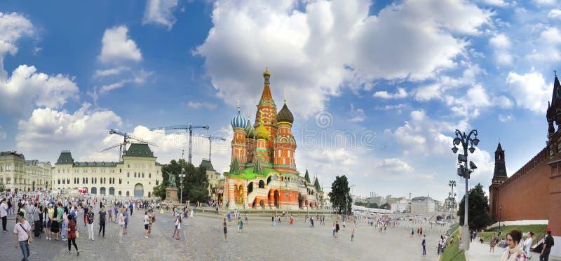 红场的看法在莫斯科,俄罗斯 免版税库存照片