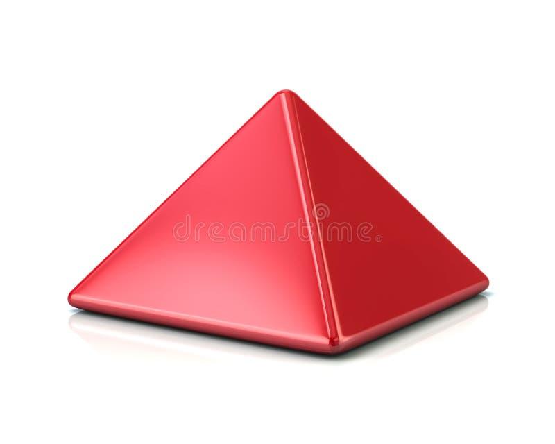 红场金字塔 向量例证