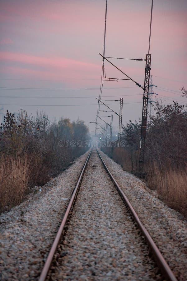 红天铁路 免版税库存图片