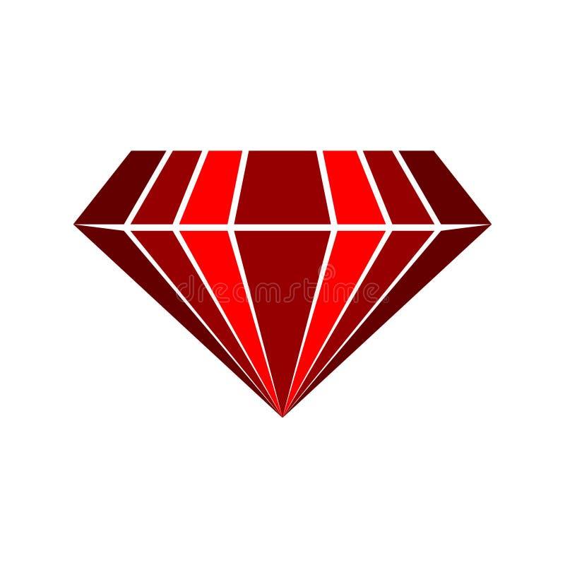 红宝石传染媒介商标 皇族释放例证