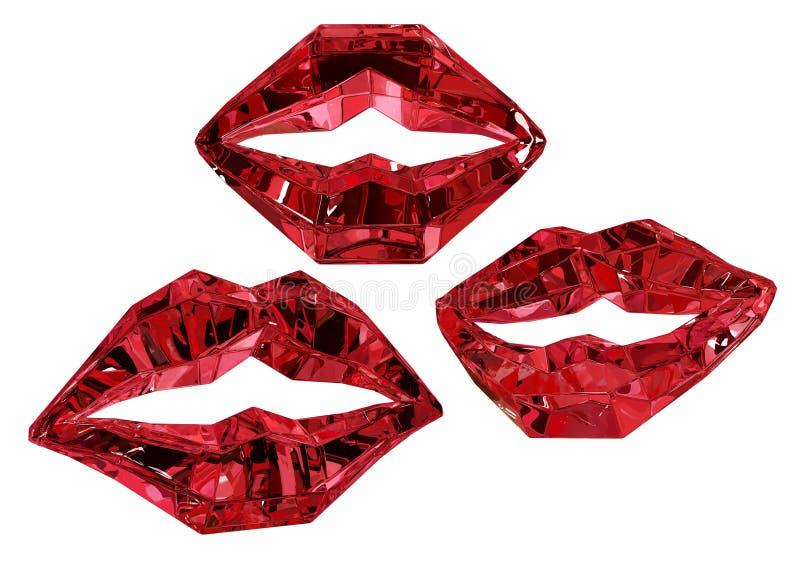 红宝石嘴唇 皇族释放例证