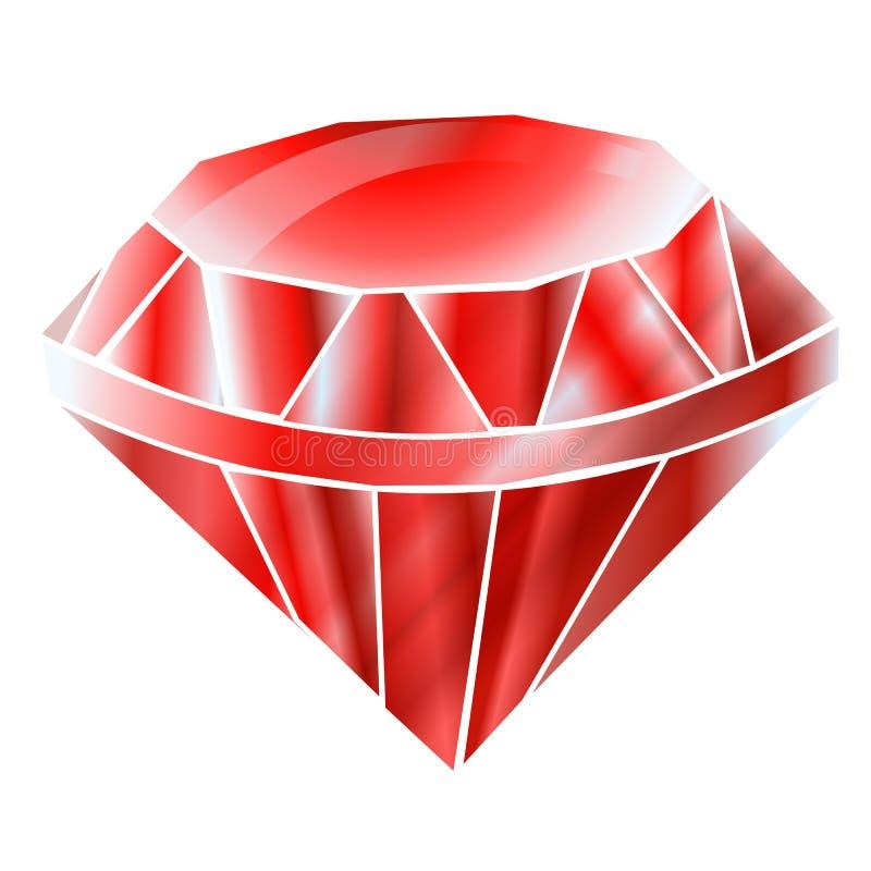 红宝石或Rodolite宝石 设计的原始的元素 向量例证
