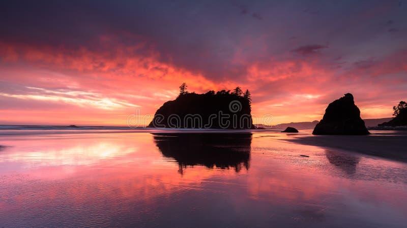 红宝石海滩 免版税图库摄影