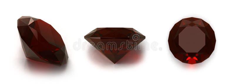 红宝石的宝石 皇族释放例证
