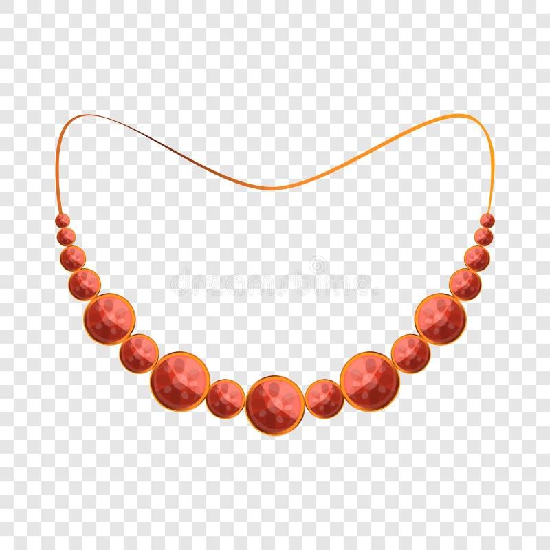 红宝石项链象,动画片样式 皇族释放例证
