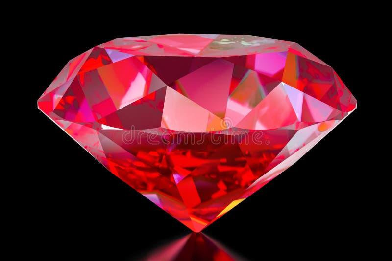 红宝石, 3D翻译 向量例证