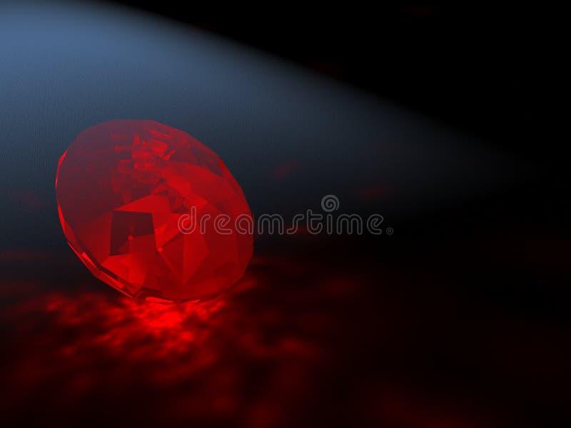 红宝石 皇族释放例证
