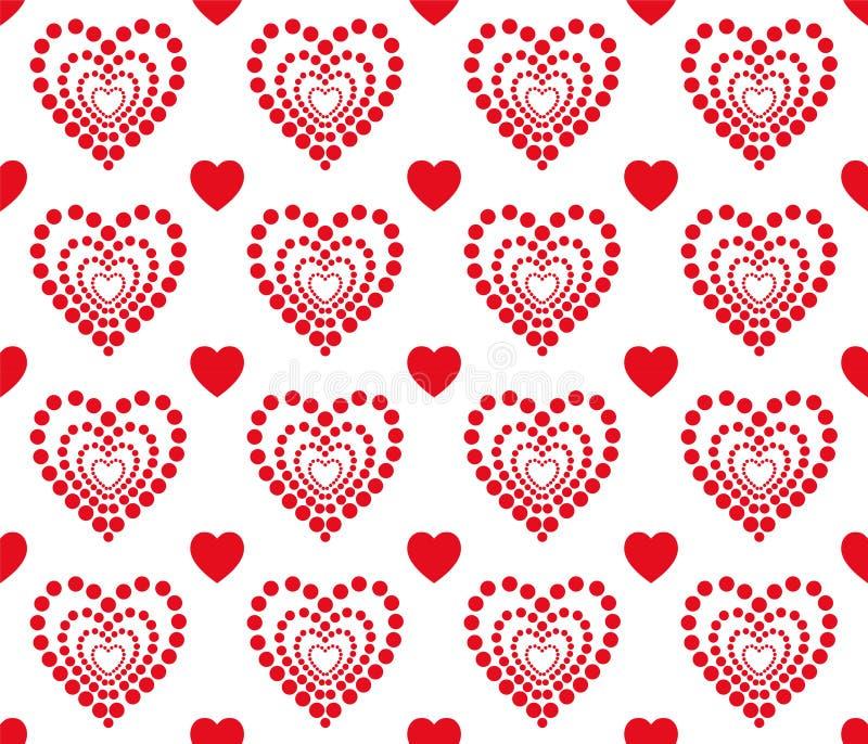 红心样式为情人节 干净和可爱的背景设计 向量例证