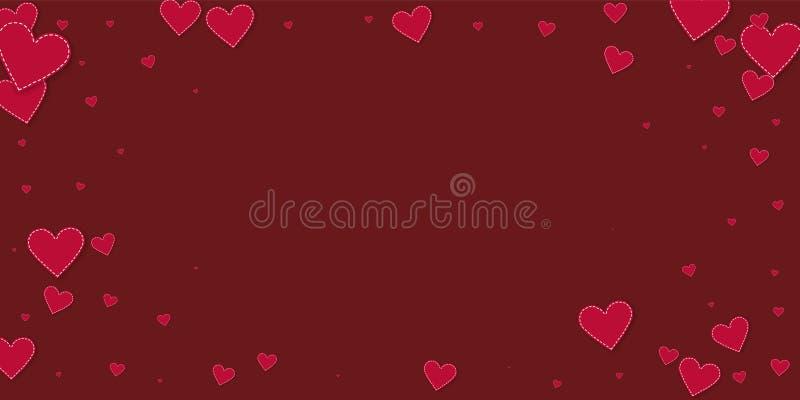 红心爱五彩纸屑 情人节小插图 库存例证