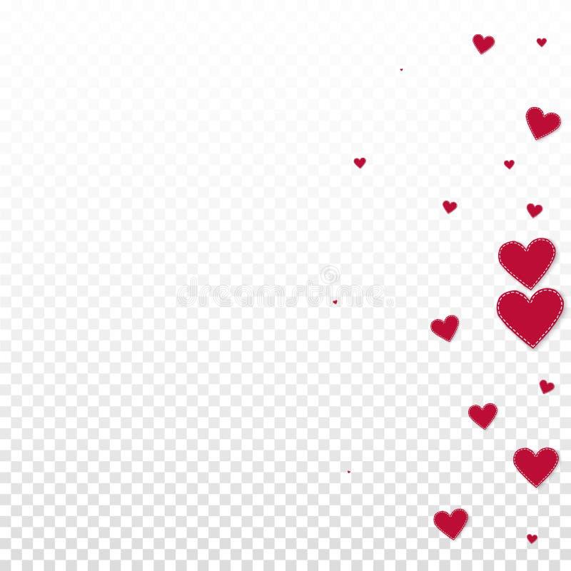 红心爱五彩纸屑 情人节梯度 向量例证
