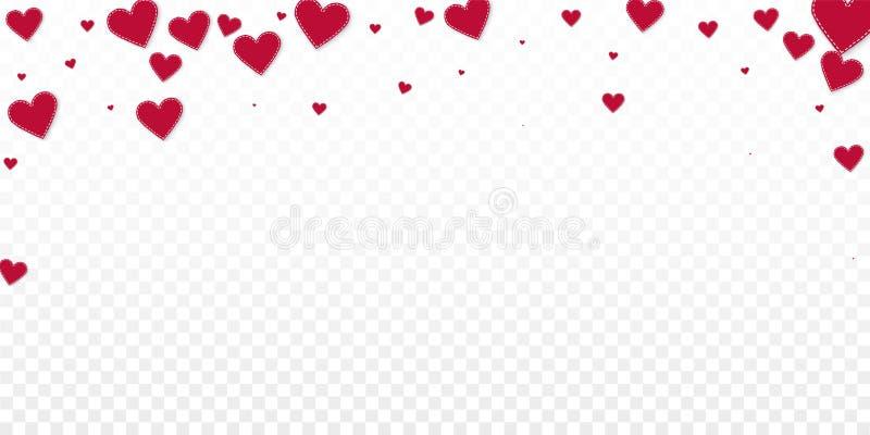 红心爱五彩纸屑 情人节落 皇族释放例证