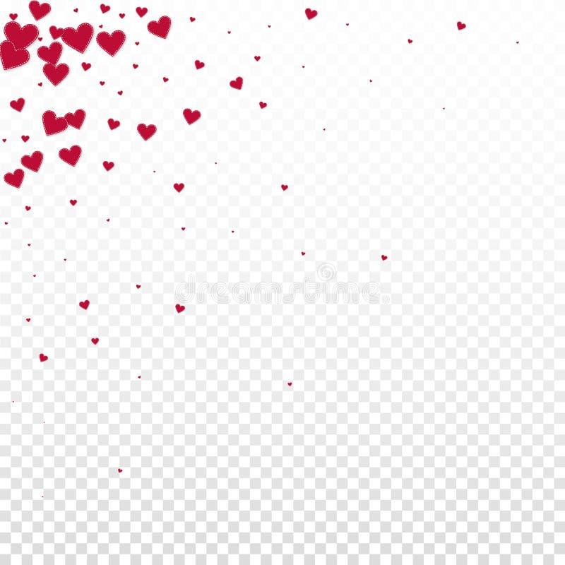 红心爱五彩纸屑 情人节角落b 皇族释放例证