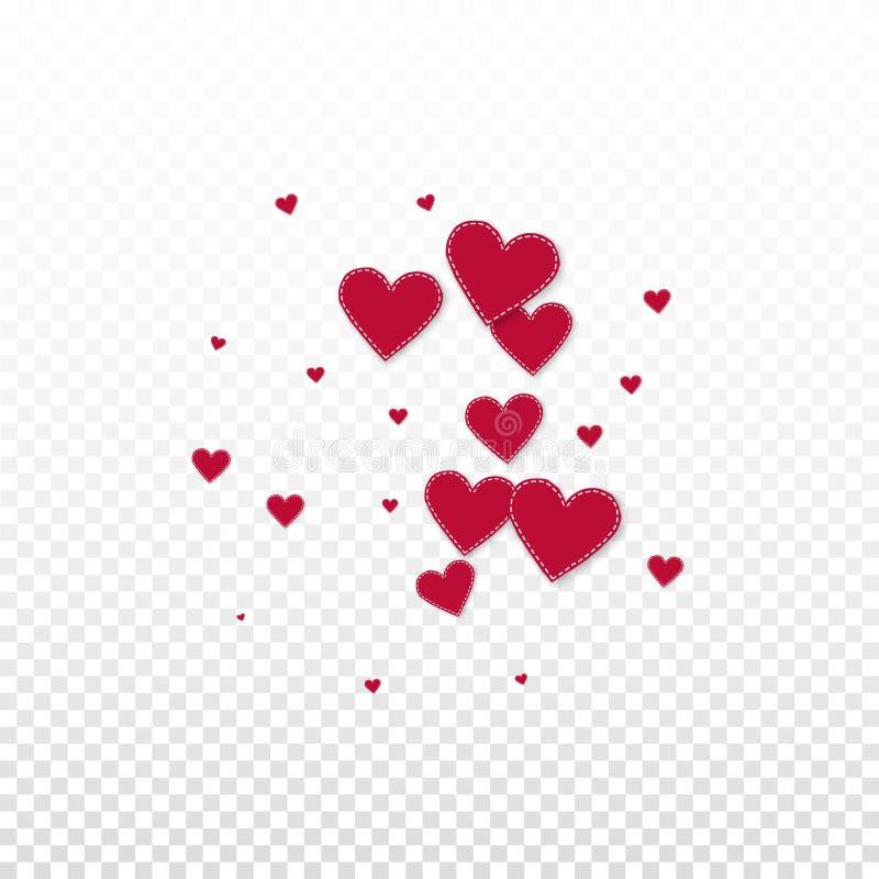 红心爱五彩纸屑 情人节explosio 向量例证