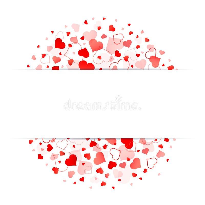 红心白色横幅圈子在中部 皇族释放例证