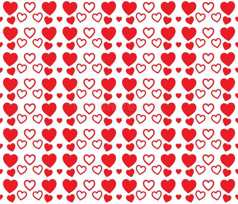 红心纹理为情人节 干净和可爱的背景设计 库存例证