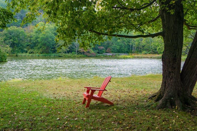 红椅树湖 库存图片