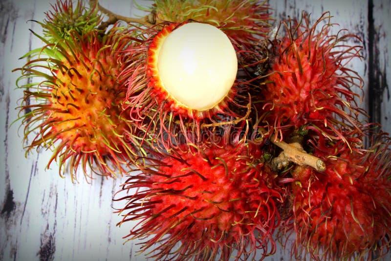 红毛丹热带水果 免版税图库摄影