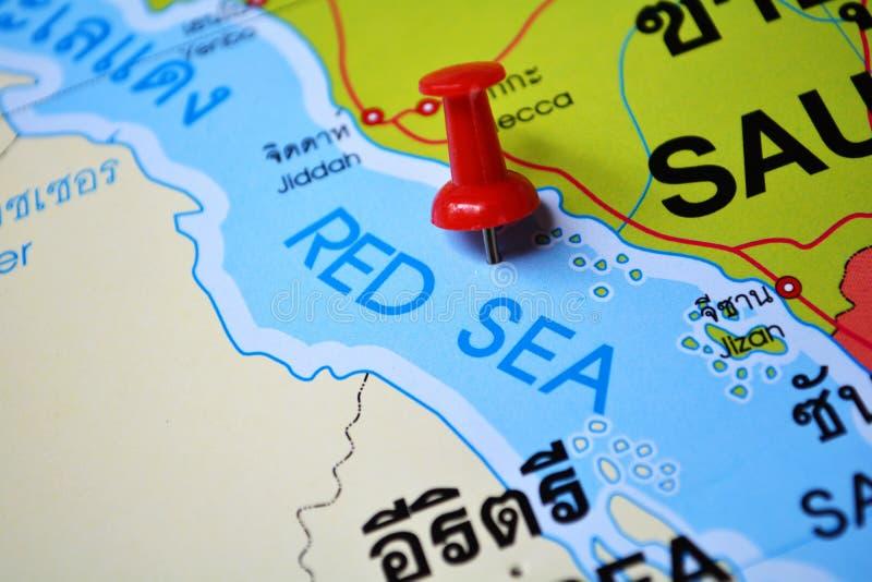 红海地图 免版税库存图片