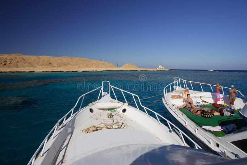 红海sunbath 免版税图库摄影