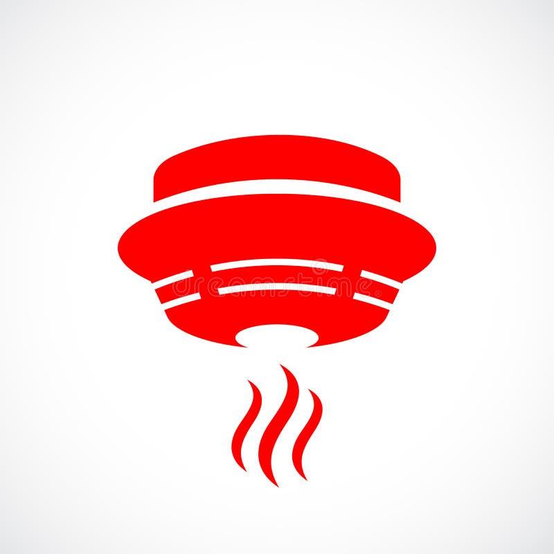 红火探测器象 向量例证