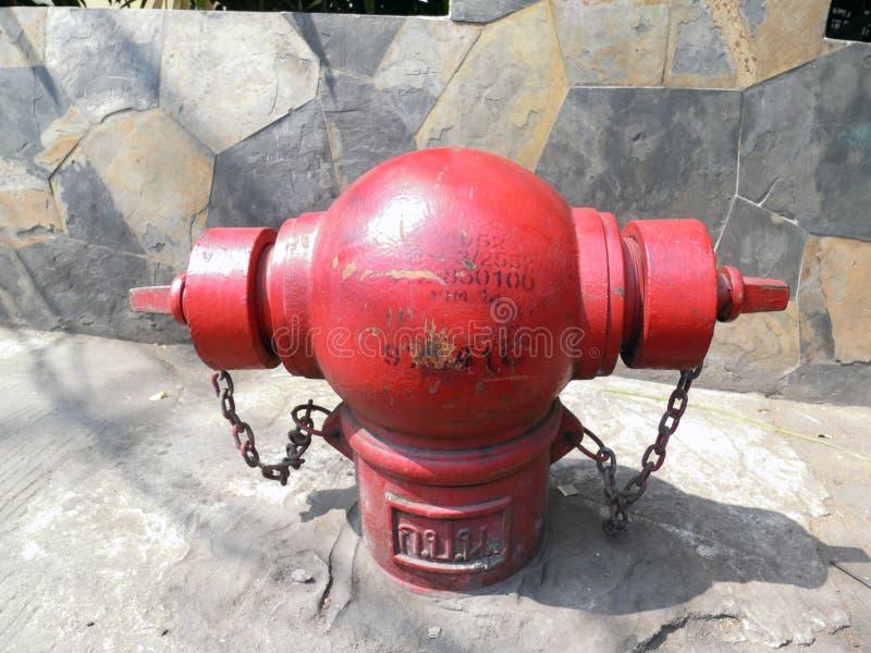 红火插座消防栓 库存照片
