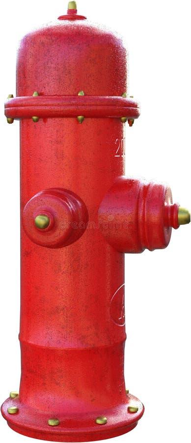 红火被隔绝的水消防栓 免版税库存图片