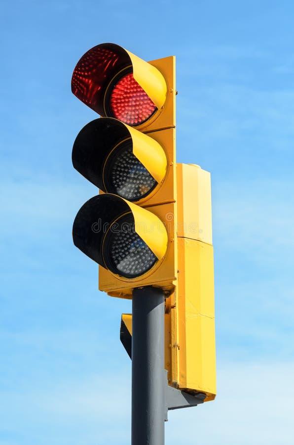 红灯信号量 库存图片