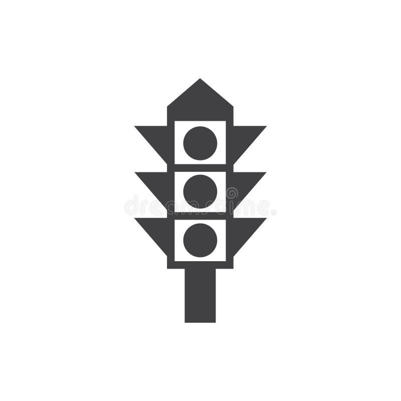 红灯象传染媒介标志标志 库存例证