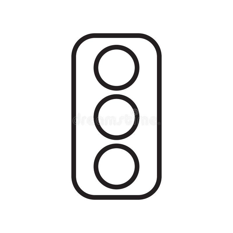 红灯象在白色后面和标志隔绝的传染媒介标志 向量例证