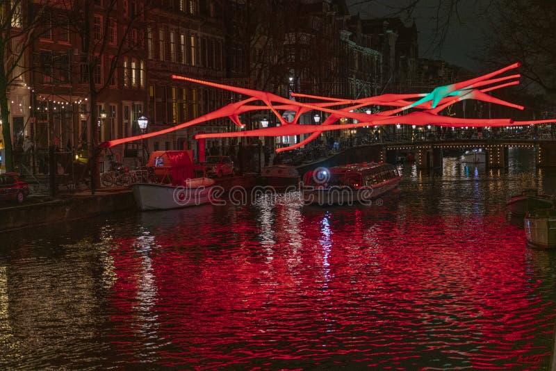 红灯阿姆斯特丹工作  免版税图库摄影