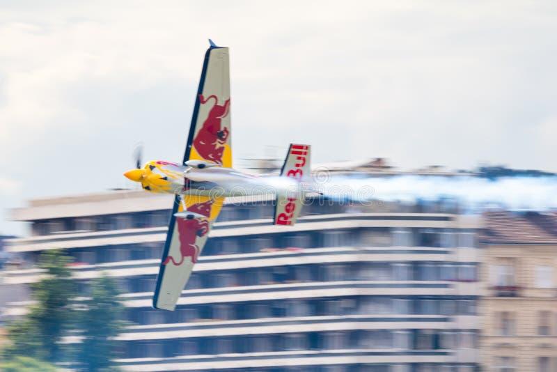 红牛特技飞行世界锦标赛2018年 免版税图库摄影