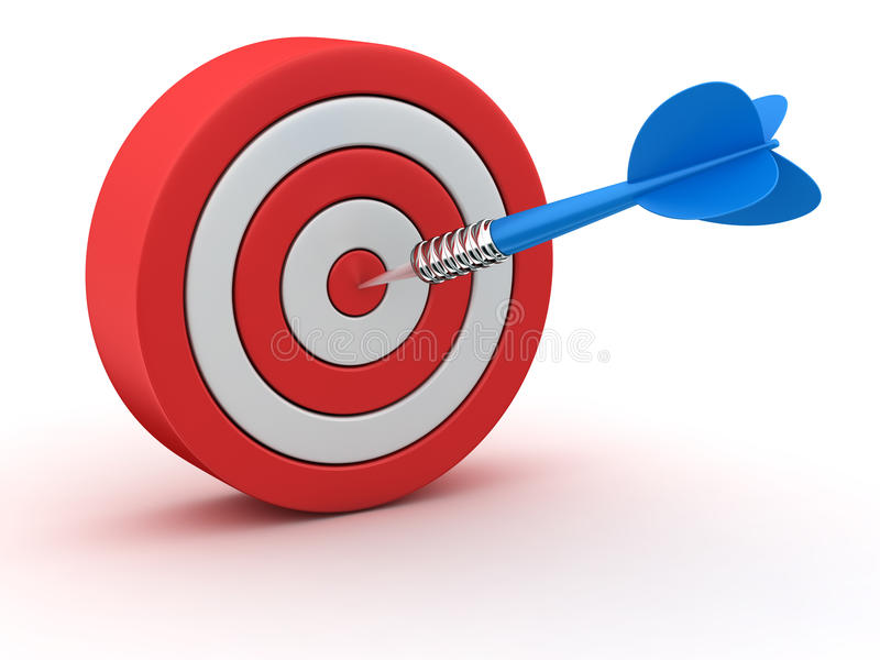 红白的掷镖的圆靶 向量例证