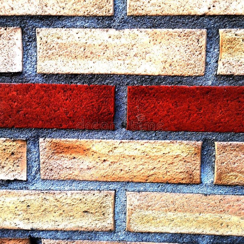 红白砖墙适合背景画 免版税库存图片