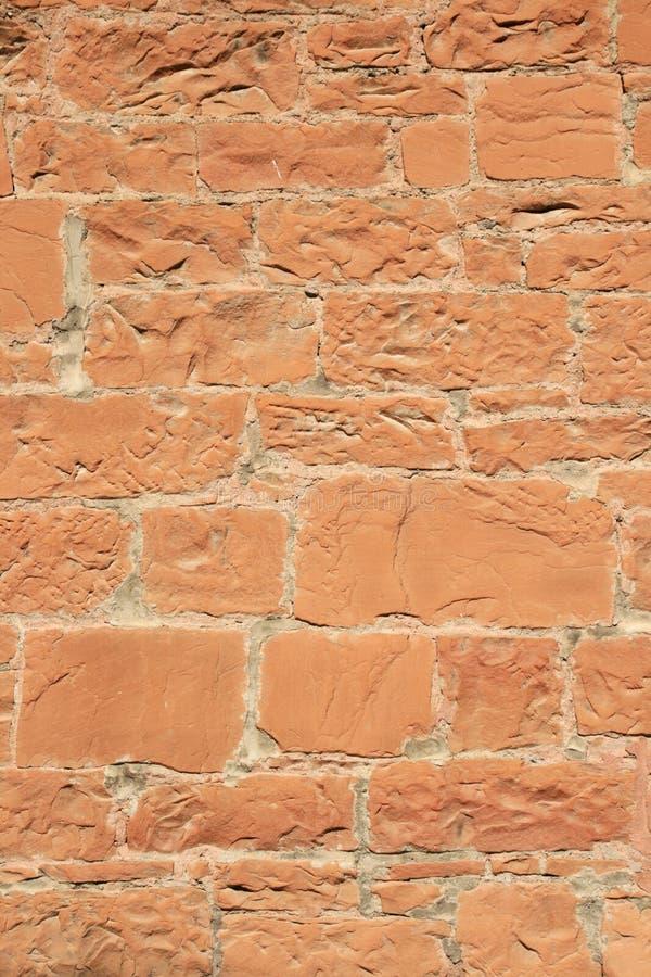 红砂岩墙壁 免版税库存照片