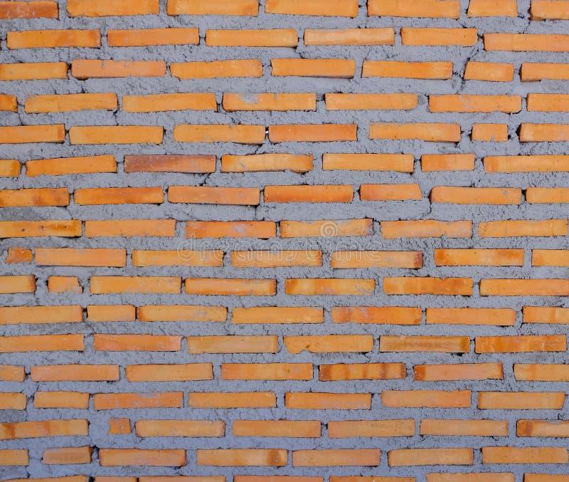 红砖墙壁仍然被修筑,纹理背景 免版税库存图片