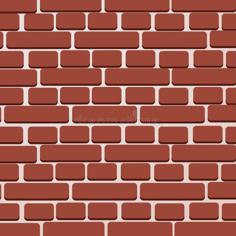 红砖墙壁传染媒介例证背景-构造例证 皇族释放例证