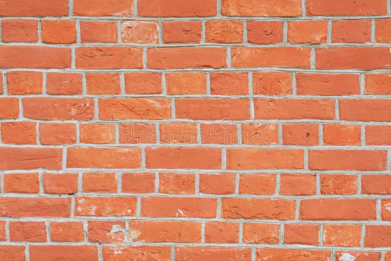 红砖墙壁接近的透视 免版税库存照片
