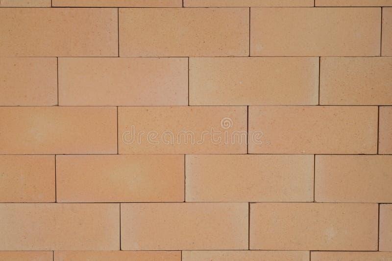 红砖墙壁是光滑的和靠近 免版税库存照片